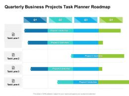 Quarterly Business Projects Task Planner Roadmap