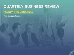 Quarterly Business Review Agenda And Objectives PowerPoint Presentation With Slides