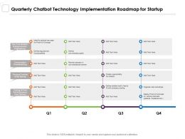 Quarterly Chatbot Technology Implementation Roadmap For Startup