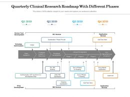 Quarterly Clinical Research Roadmap With Different Phases