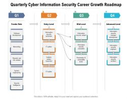 Quarterly Cyber Information Security Career Growth Roadmap