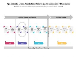 Quarterly Data Analytics Strategy Roadmap For Business
