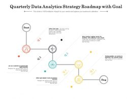 Quarterly Data Analytics Strategy Roadmap With Goal