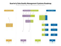 Quarterly Data Quality Management Systems Roadmap