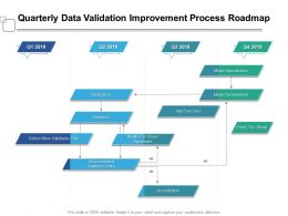 Quarterly Data Validation Improvement Process Roadmap