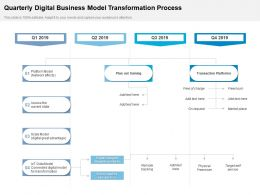 Quarterly Digital Business Model Transformation Process