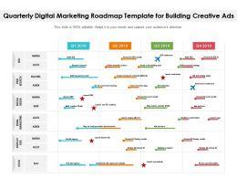 Quarterly Digital Marketing Roadmap Template For Building Creative Ads