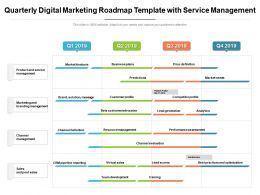 Quarterly Digital Marketing Roadmap Template With Service Management