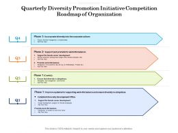 Quarterly Diversity Promotion Initiative Competition Roadmap Of Organization