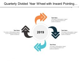 Quarterly Divided Year Wheel With Inward Pointing Arrows