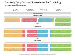 Quarterly Drug Delivery Formulation For Cardiology Operation Roadmap