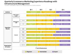 Quarterly Ecommerce Marketing Experience Roadmap With Infrastructural Management