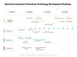 Quarterly Enterprise Professional Technology Development Roadmap