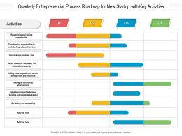 Quarterly Entrepreneurial Process Roadmap For New Startup With Key Activities