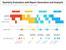 Quarterly Evaluation With Report Generation And Analysis