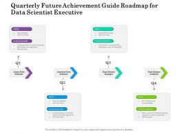 Quarterly Future Achievement Guide Roadmap For Data Scientist Executive