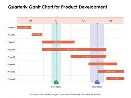 Quarterly Gantt Chart For Product Development Ppt Powerpoint Presentation Ideas