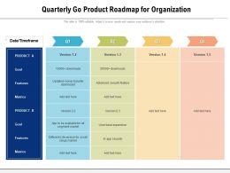 Quarterly Go Product Roadmap For Organization