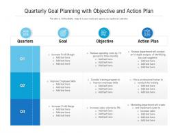Quarterly Goal Planning With Objective And Action Plan