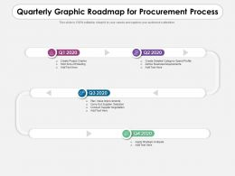 Quarterly Graphic Roadmap For Procurement Process