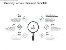 Quarterly Income Statement Template Ppt Powerpoint Presentation Icon Infographic Template Cpb