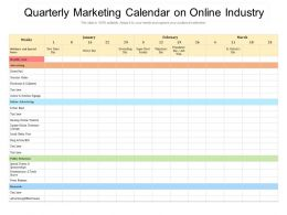 Quarterly Marketing Calendar On Online Industry