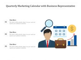Quarterly Marketing Calendar With Business Representative