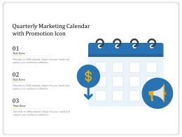 Quarterly Marketing Calendar With Promotion Icon