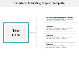 Quarterly Marketing Report Template Ppt Powerpoint Presentation Ideas Visual Aids Cpb