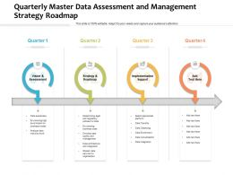 Quarterly Master Data Assessment And Management Strategy Roadmap