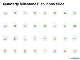 Quarterly Milestone Plan Icons Slide Ppt Powerpoint Presentation Summary