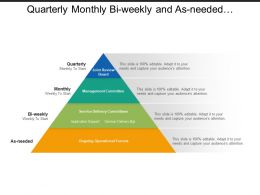 Quarterly Monthly Bi Weekly And As Needed Governance Pyramid