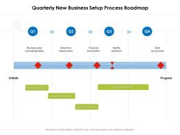 Quarterly New Business Setup Process Roadmap