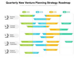 Quarterly New Venture Planning Strategy Roadmap