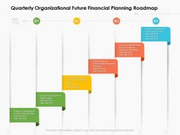 Quarterly Organizational Future Financial Planning Roadmap