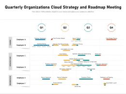 Quarterly Organizations Cloud Strategy And Roadmap Meeting