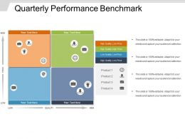 Quarterly Performance Benchmark Powerpoint Templates