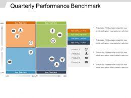 Quarterly Performance Benchmark Powerpoint Templates