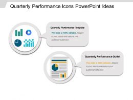 Quarterly Performance Icons Powerpoint Ideas