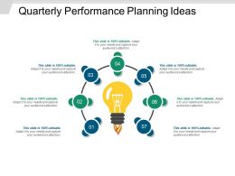 Quarterly Performance Planning Ideas Powerpoint Layout