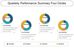 Quarterly Performance Summary Four Circles Ppt Sample