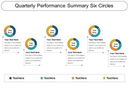 Quarterly Performance Summary Six Circles Ppt Sample File