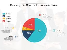 Quarterly Pie Chart Of Ecommerce Sales