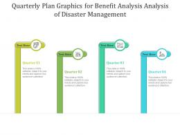 Quarterly Plan Graphics For Benefit Analysis Analysis Of Disaster Management Infographic Template