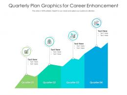 Quarterly Plan Graphics For Career Enhancement Infographic Template
