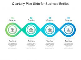Quarterly Plan Slide For Business Entities Infographic Template