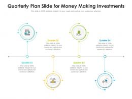 Quarterly Plan Slide For Money Making Investments Infographic Template