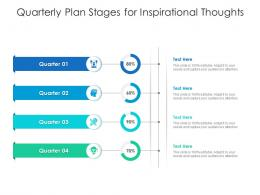 Quarterly Plan Stages For Inspirational Thoughts Infographic Template
