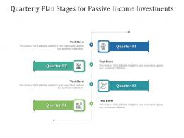 Quarterly Plan Stages For Passive Income Investments Infographic Template