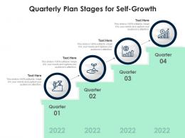 Quarterly Plan Stages For Self Growth Infographic Template
